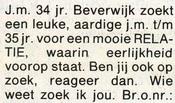 contactadvertentie Eindhoven