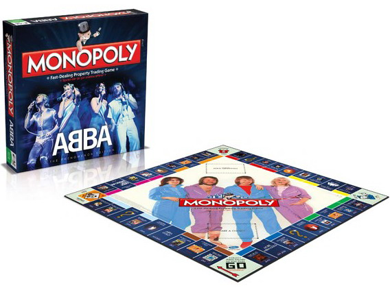 Speciale ABBA monopoly helemaal in stijl.