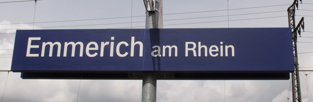 Stationsbord Emmerich